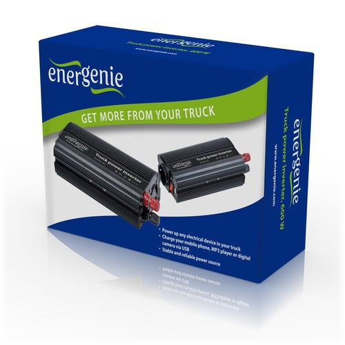 EnerGenie EG-PWC-022 Truck power inverter, 600W Strāvas pārveidotājs, Power Inverter