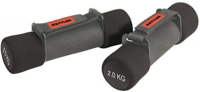KETTLER Fitnesa hanteles Aerobic 2x2.0 kg black 7360-160 hanteles