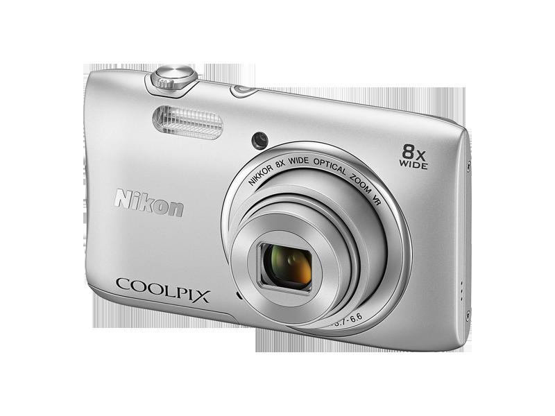 Nikon Coolpix S3600 Silver Digitālā kamera