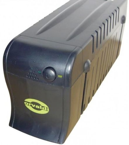 ORVALDI 620 black - 620VA UPS USB RJ45 nepārtrauktas barošanas avots UPS