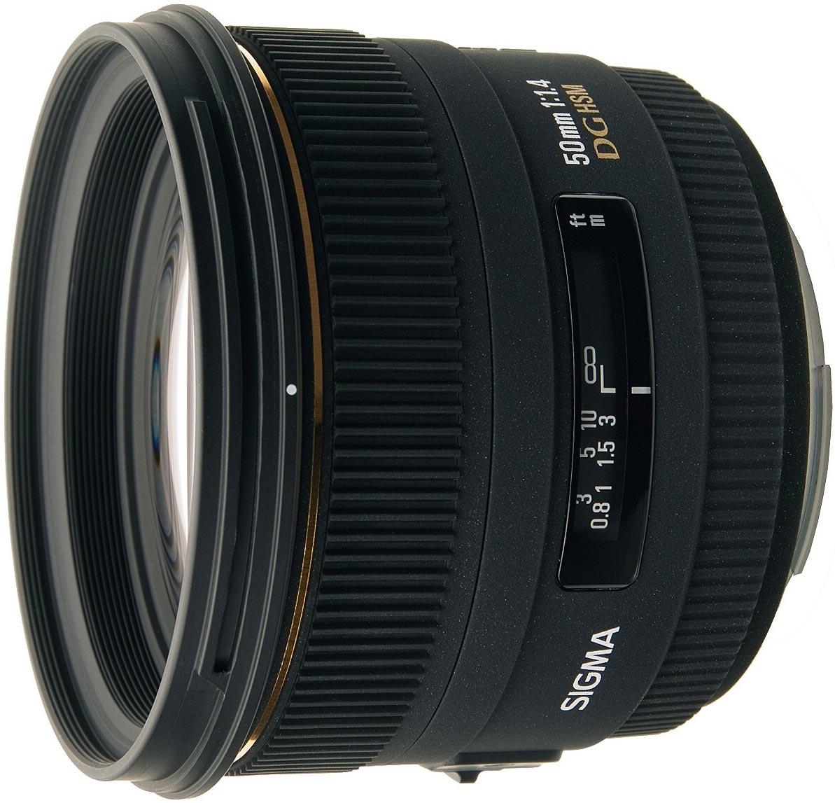 Sigma EX 50mm F1.4 DG HSM for Nikon,  8 Elements in 6 Groups foto objektīvs