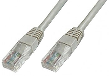 Patch cable  CAT5e UTPgrey 15m tīkla kabelis