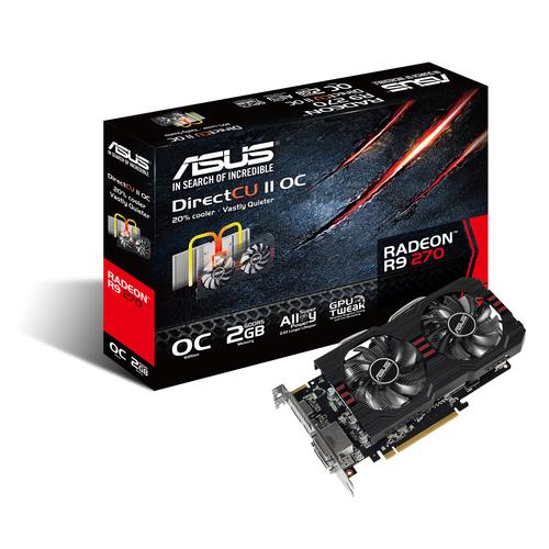 ASUS R9270-DC2OC-2GD5 / Radeon R9 270 / PCIE 3.0 / 2GB DDR5 video karte
