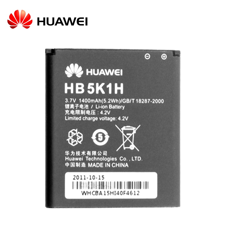 Huawei HB5K1H Oriģināls Akumulators U8850 U8650 Y200 Li-Ion 1400mAh (M-S Blister) akumulators, baterija mobilajam telefonam