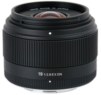 Sigma  19mm F2.8 DN for Micro Four Thirds, Black [Art] foto objektīvs