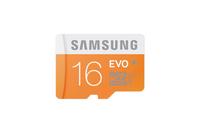 SAMSUNG MEMORY MICRO SDHC EVO 16GB C10/W/ADAPTER MB-MP16DA/EU atmiņas karte
