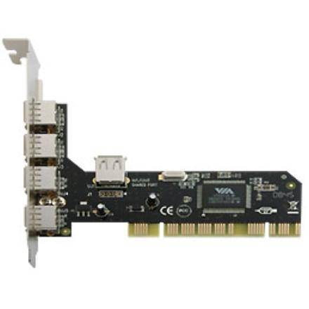 PCI Interface card, 4+1x USB 2.0, VIA chipset