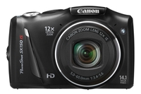 Canon PowerShot SX150 IS 14.1Mpix 12x IS Black Digitālā kamera