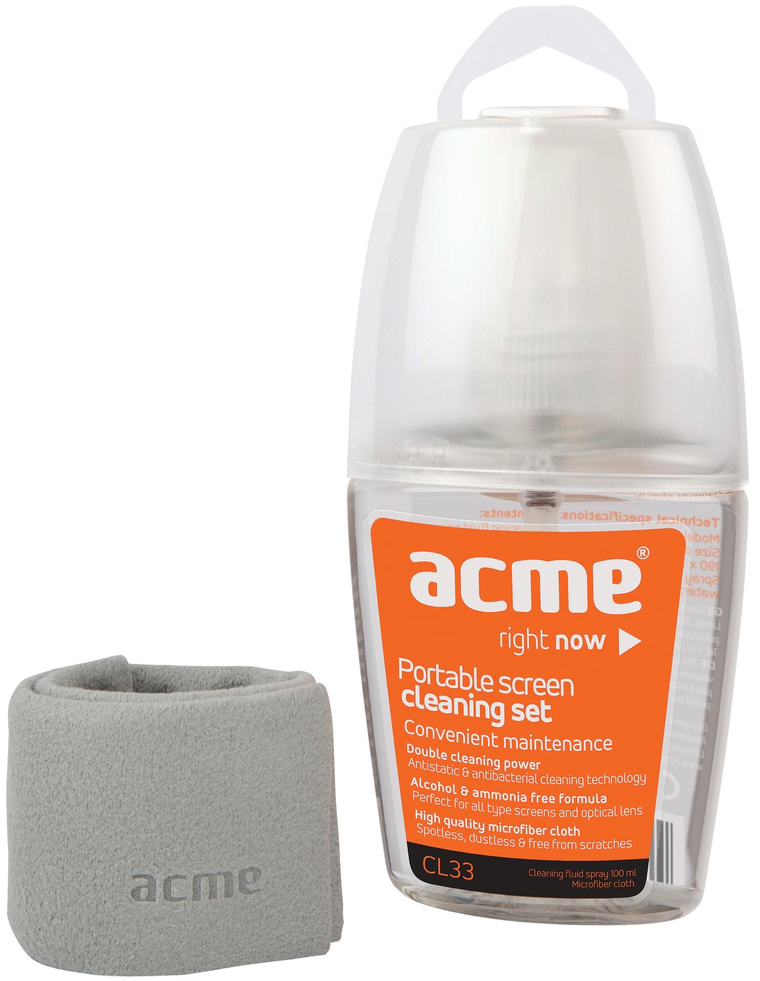 Acme CL33 Portable screen cleaning set tīrīšanas līdzeklis