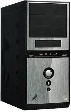 QoRi ATX-3336-A11-USB/Audio (silver/black) + ATX 350W (12cm/ Datora korpuss