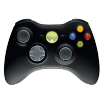Microsoft XBOX360 Wireless controller black spēļu konsoles gampad