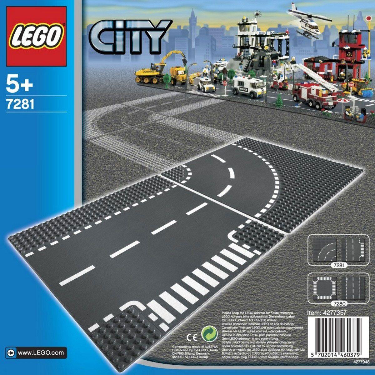 LEGO T-junction & Curve V70,V110 7281 LEGO konstruktors