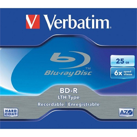 Verbatim BD-R LTH 25GB 6X WHITE BLUE HARD COAT jewel box - matricas