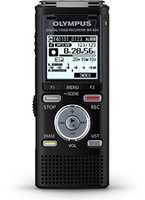 Olympus WS-833 Digital Voice Recorder Black, 8GB internal me diktafons
