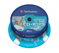 Verbatim CD-R 80/700MB 52X 25pack AZO WIDE PRINTABLE cake bo matricas