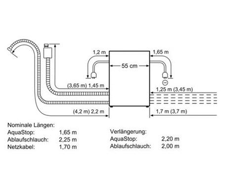 Bosch SCE64M55EU Iebūvējamā Trauku mazgājamā mašīna