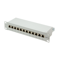 LOGILINK-  Patch Panel 10''-mounting Cat.6A STP 12 ports, grey datortīklu aksesuārs