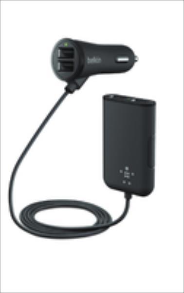 Belkin Road Rockstar 4-Port USB (F8M935BT06-BLK) iekārtas lādētājs