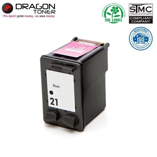 Dragon HP 21 C9351AE Melns XL Tintes Kārtridžs 20ml priekš DeskJet 3910 F2140 uc HQ Premium Analogs aksesuārs mobilajiem telefoniem