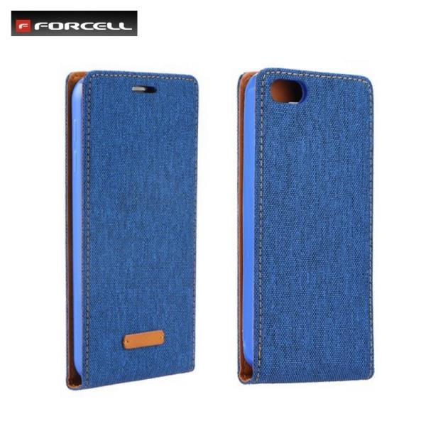 Forcell Canvas Flexi vetikāli atverams maks grāmata Samsung A510F Galaxy A5 Zils