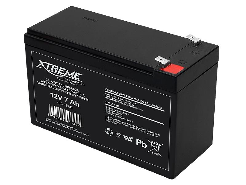 XTREME Rechargeable battery 12V 7.0Ah UPS aksesuāri