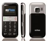 MyPhone 1082 black/silver Mobilais Telefons