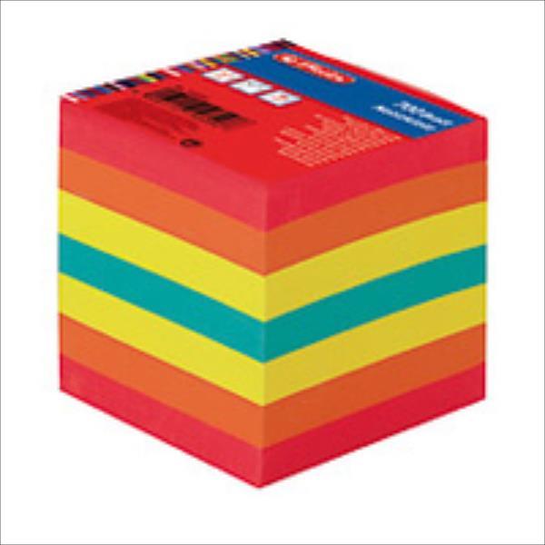 Herlitz Notizklotz 9x9cm 700Blatt farbig geleimt mit Deckbla Skolas somas un penāļi