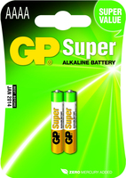 Alcaline battery GP Batteries 25A-U2 AAAA | LR8D425 | 1.5V | SUPER ALKALINE | bl Baterija