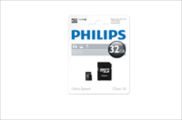 Philips MicroSDHC 32Gb cl10 +SD atmiņas karte