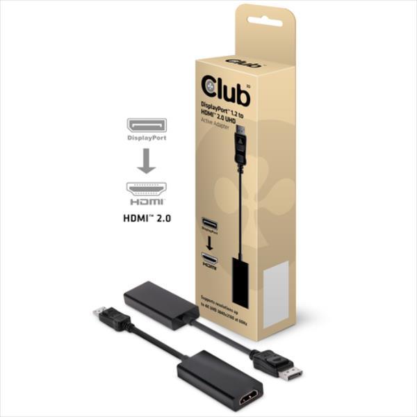 CLUB3D DISPLAYPORT > HDMI2.0 4K 60Hz