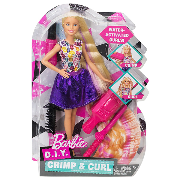 Barbie D.I.Y. Crimps & Curls Doll | DWK49 | Barbie bērnu rotaļlieta