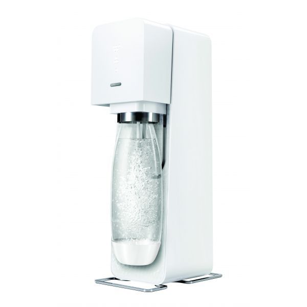 SodaStream SOURCE White Metal  (Incl. 60 CO2 + 1 btl) Virtuves piederumi