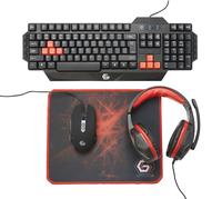 Gembird GGS-UMG4-01 Ultimate 4-in-1 Gaming kit klaviatūra