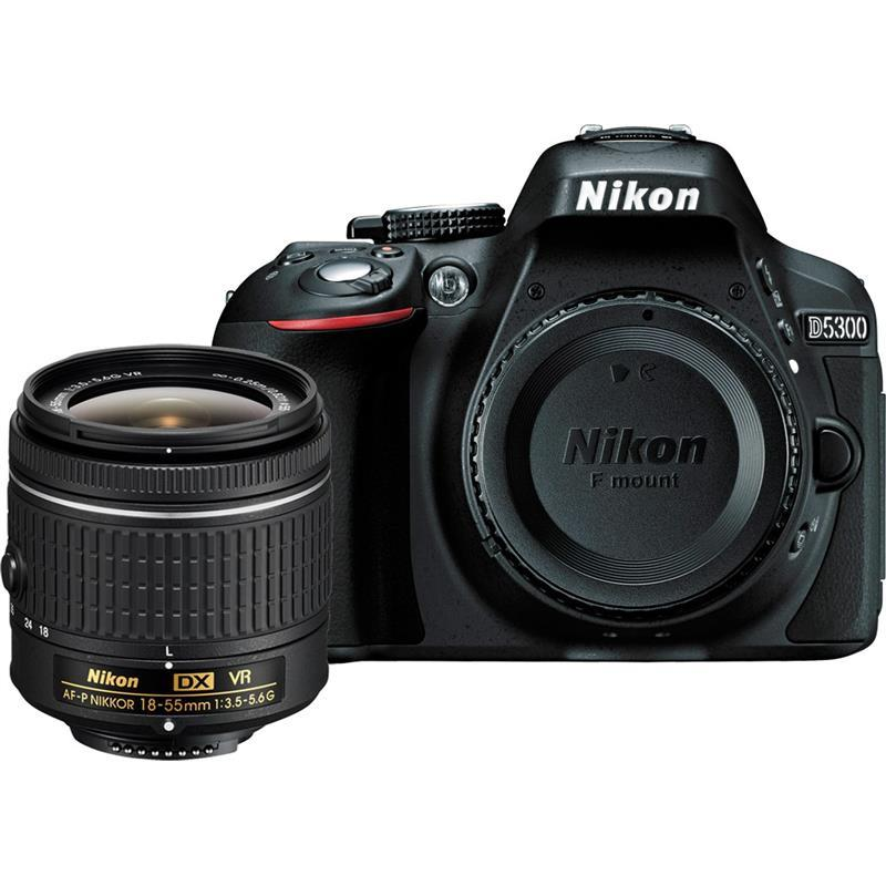 Nikon D5300 Kit + AF-P 18-55 VR black Spoguļkamera SLR