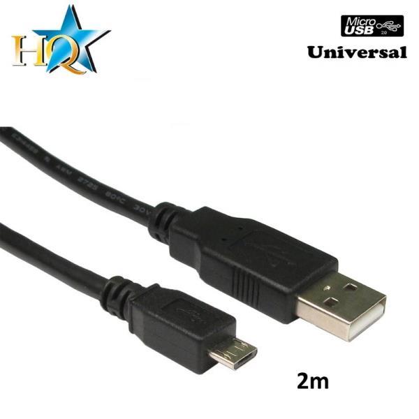 HQ Universāls Micro USB Data & Uzlādes Kabelis 2m (Nokia CA-101 analogs) (OEM) kabelis