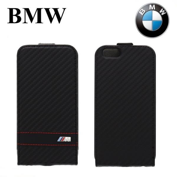 BMW BMFLP6MCC M-Sport Kolekcija Flip Maks iPhone 6 4.7 inch Karbons Melns (EU Blister) maciņš, apvalks mobilajam telefonam