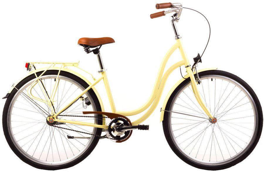 ROMET ANGEL 28 - 3 CITY 17-M R28 DZELTENS Pilsētas velosipēds