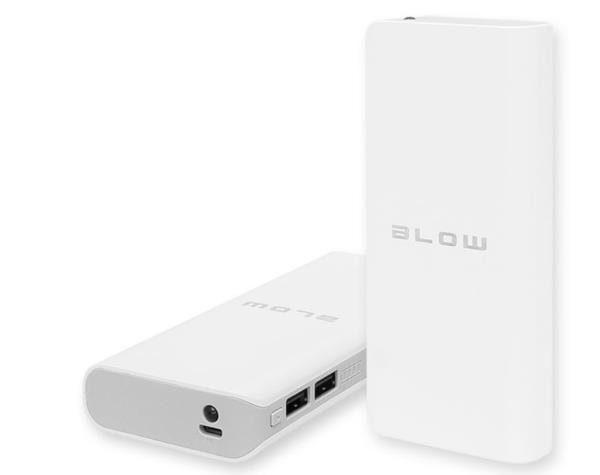 Blow 20000mAh 2xUSB PB15 WHITE Powerbank, mobilā uzlādes iekārta