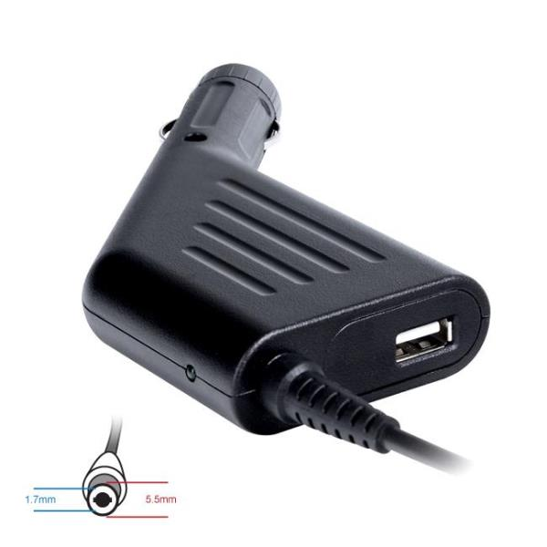 Digitalbox car power adapter 19V/3.42A 65W connector 5.5x1.7mm Acer | USB portatīvo datoru lādētājs