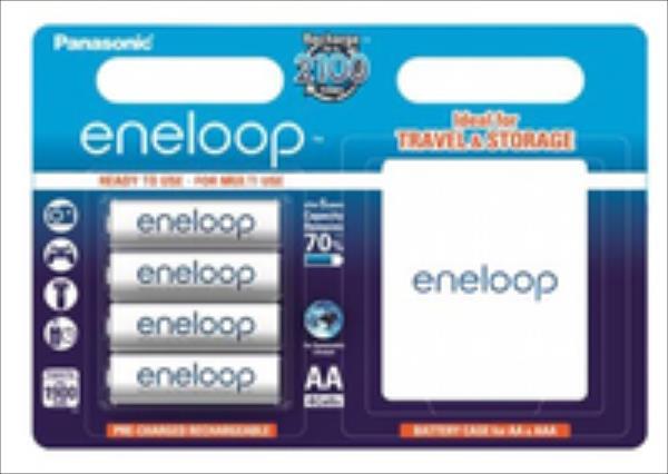 Panasonic Eneloop R6/AA 1900mAh, 4 Pcs, Blister + BOX Baterija