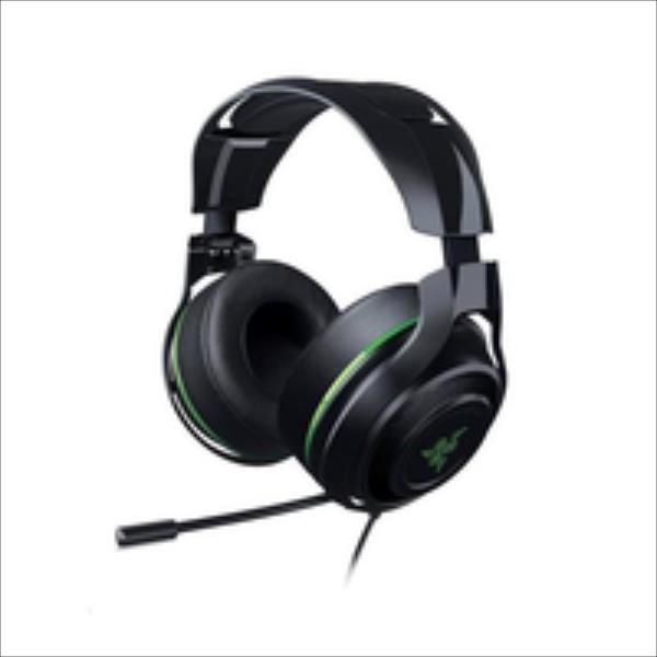 Headset Razer ManO'War 7.1 green, 60mm drivers austiņas