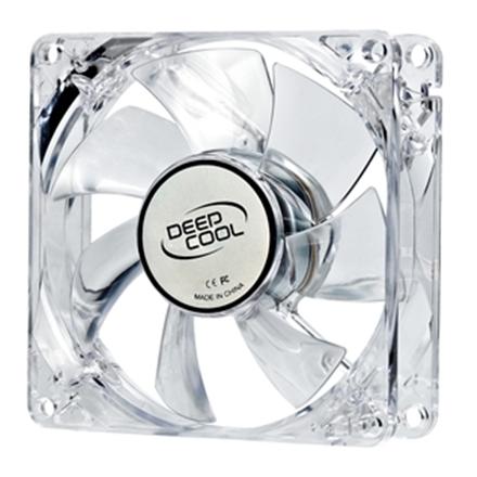 Deepcool Xfan 80 mm,  transparent frame with blue LED, 3Pin/2pin case ventilation fan ventilators