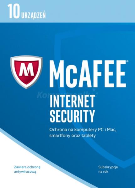 McAfee Internet Security 2017 BOX PL 10 device programmatūra
