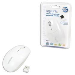 LOGILINK - Wireless mouse optical 2.4GHz white Datora pele