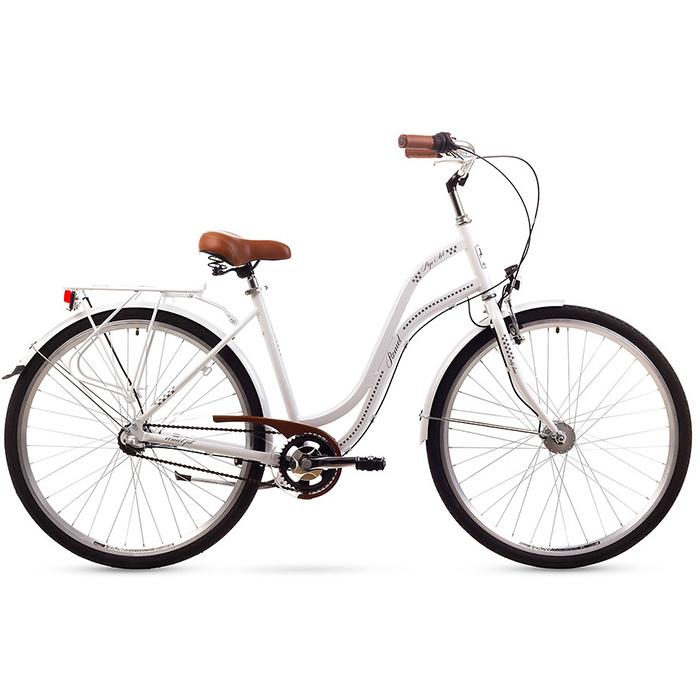 ROMET POP ART 26  CITY 19-L R26 BALTS Pilsētas velosipēds