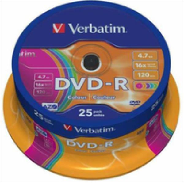 DVD-R 16x 4.7GB 25P SP   Matt Silver Wrap 43808 matricas