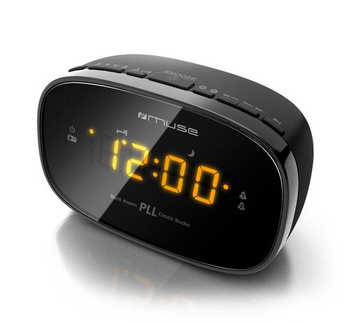 Muse Clock radio PLL M-150CR Black, Alarm function radio, radiopulksteņi