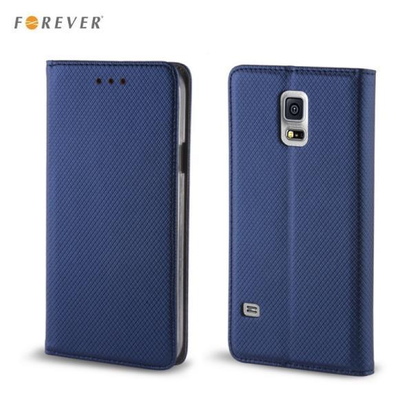 Forever Magnēstikas Fiksācijas Sāniski atverams maks bez klipša Samsung J510 Galaxy J5 Tumši Zils aksesuārs mobilajiem telefoniem