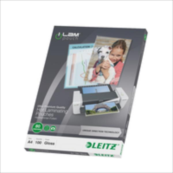 Leitz  Lamination pouch A4 UDT 80 mic Leitz. Box of 100 pouches