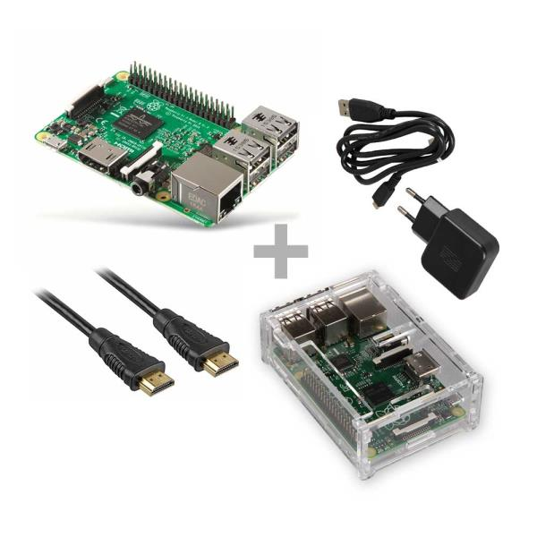 Raspberry Pi 3 Model B 1 GB Starter Set / Bundle / Starter Kit pamatplate, mātesplate